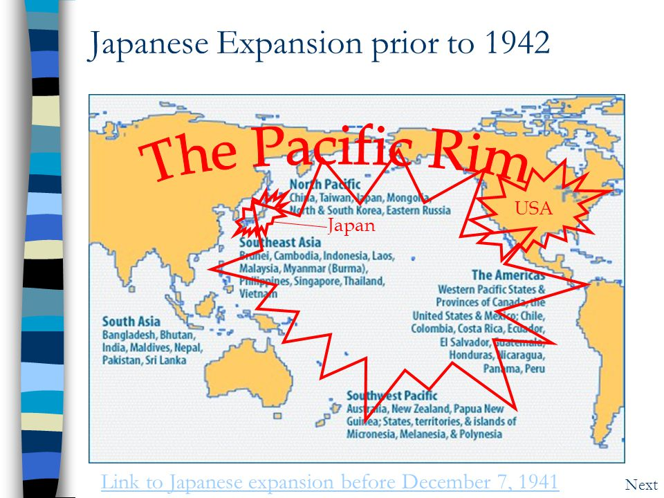 Japanese Expansion prior to 1942