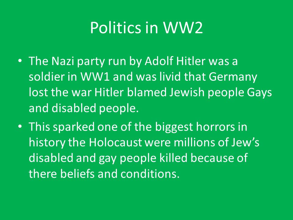 Politics in WW2