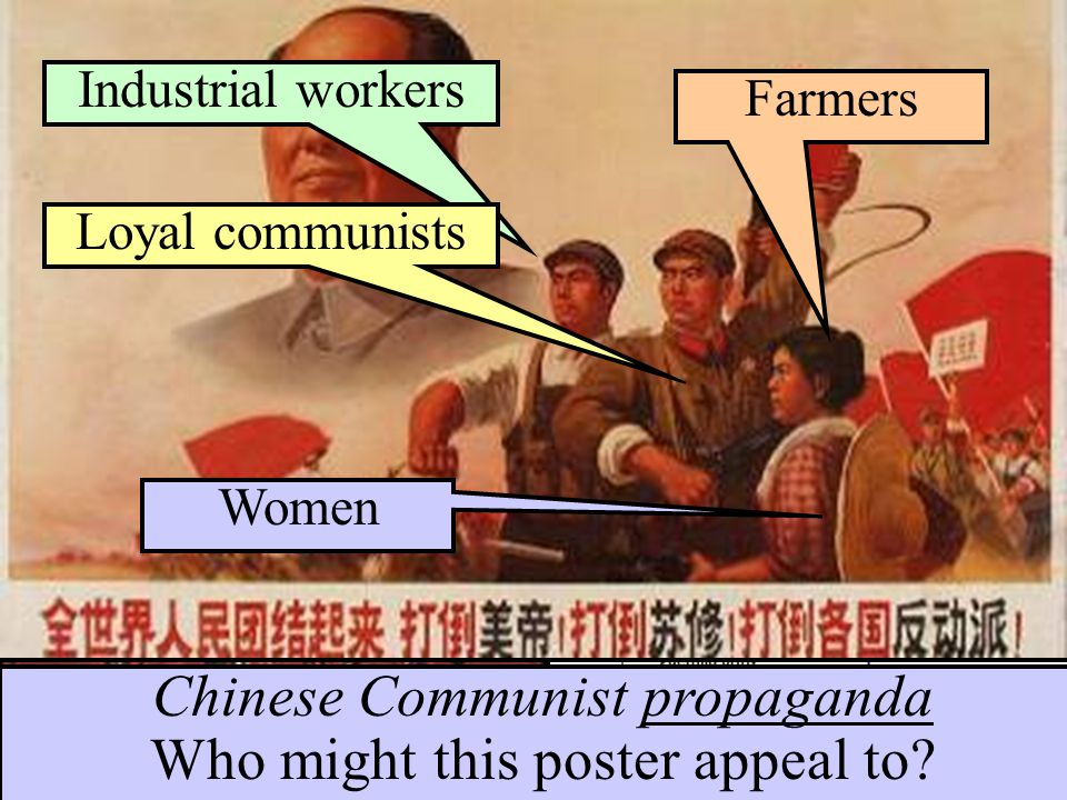 Chinese Communist propaganda What message does this poster project