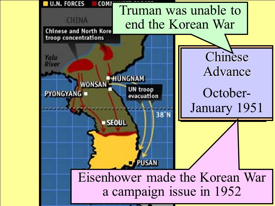 Truman was unable to end the Korean War