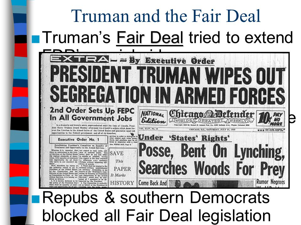 Truman and the Fair Deal