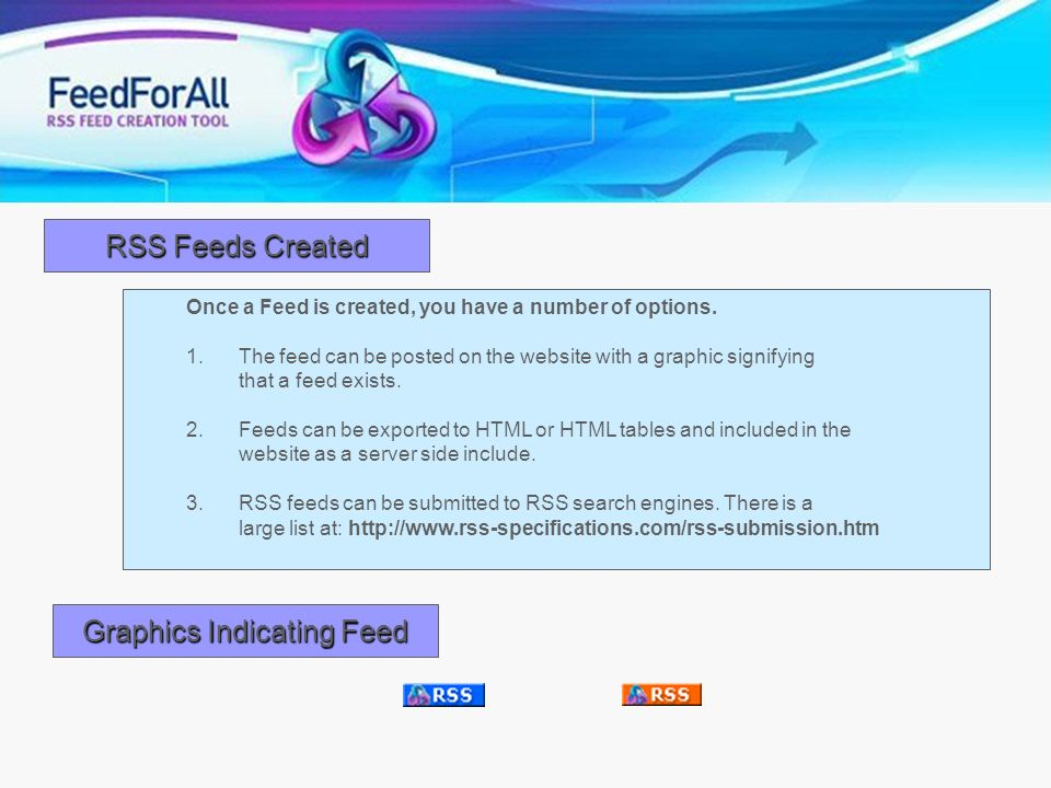 Graphics Indicating Feed