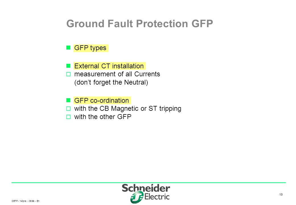 Ground Fault Protection GFP