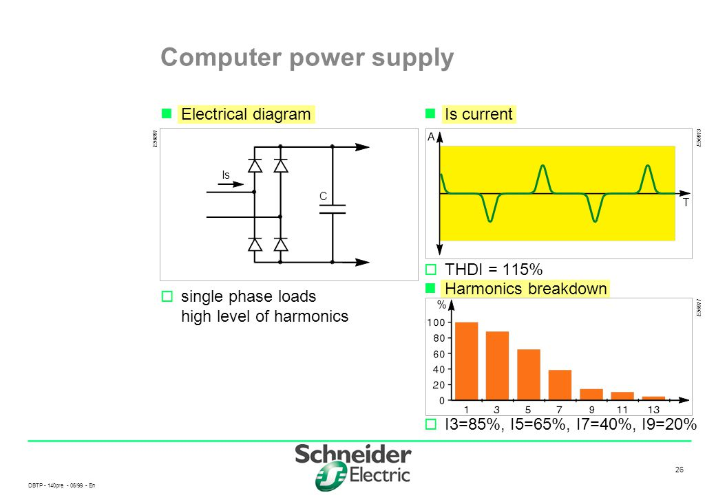 Computer power supply Electrical diagram