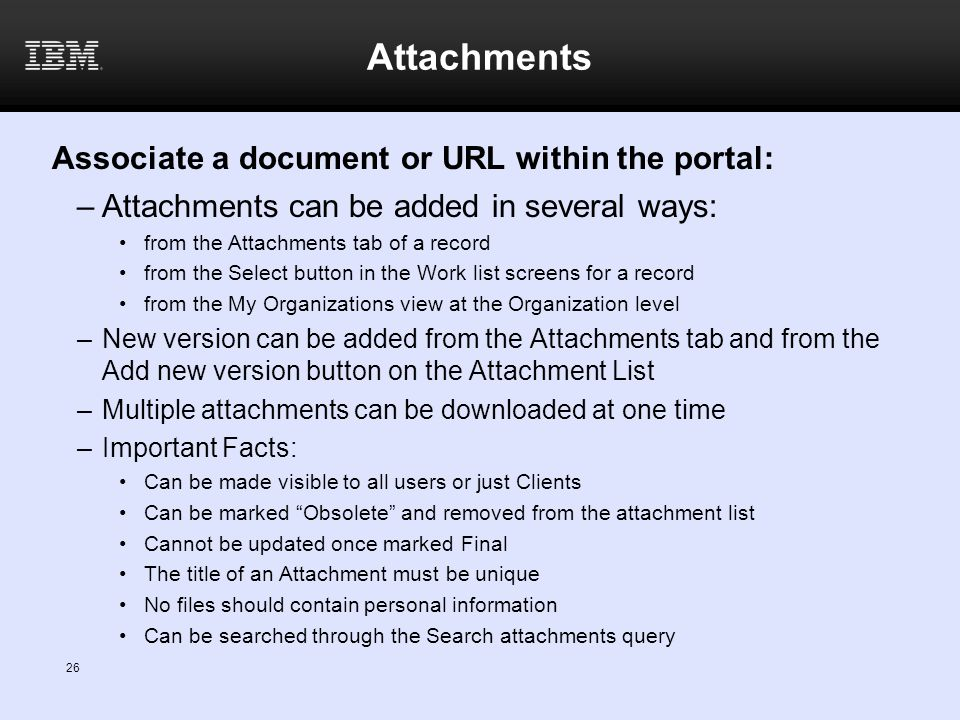 Associate a document or URL within the portal:
