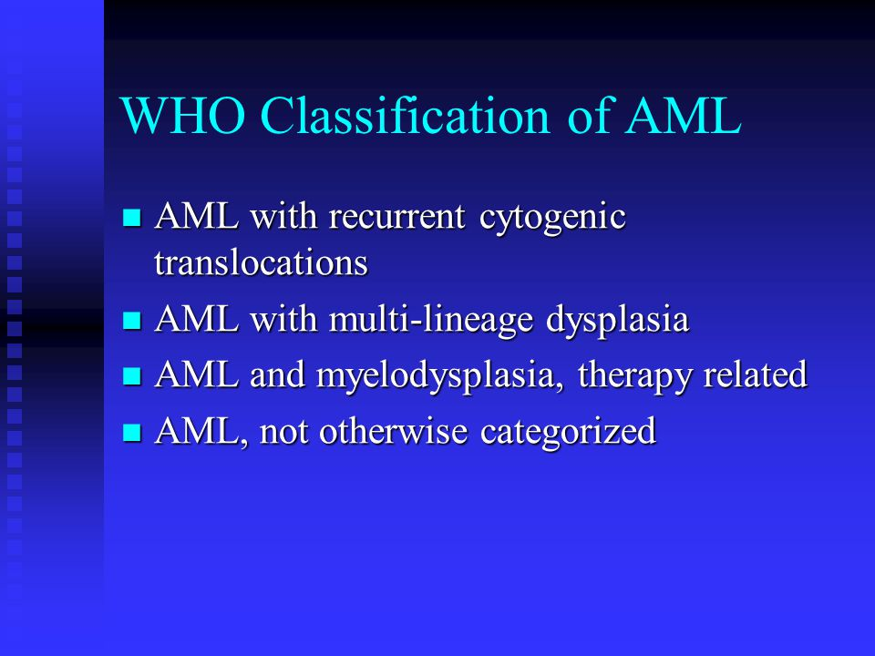 WHO Classification of AML