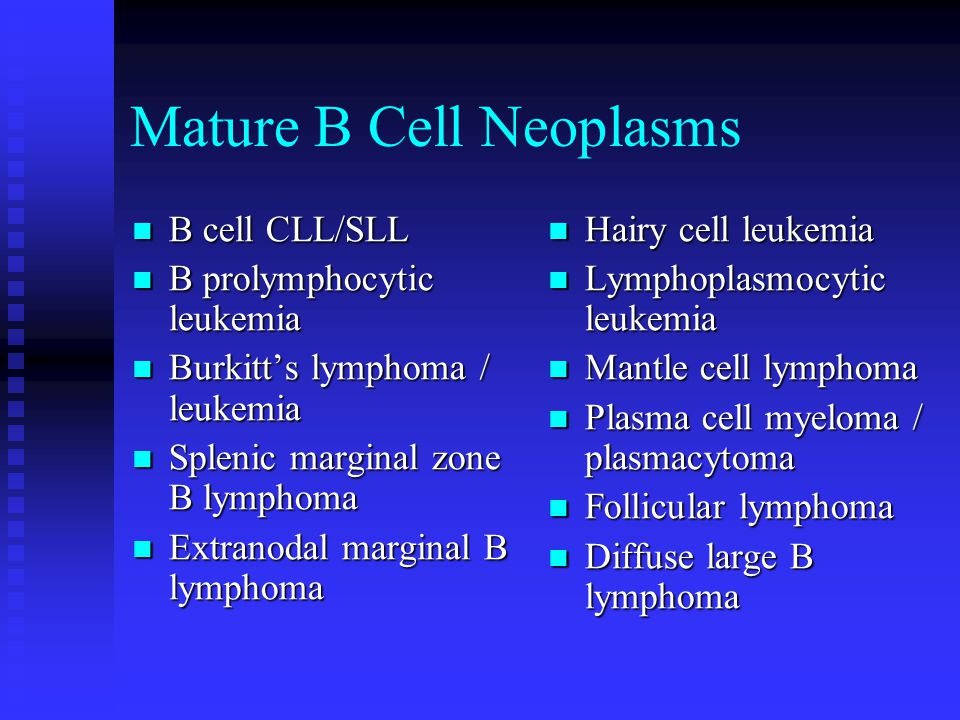 Mature B Cell Neoplasms