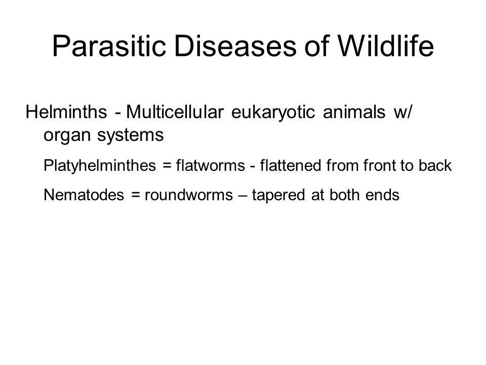 Parasitic Diseases of Wildlife