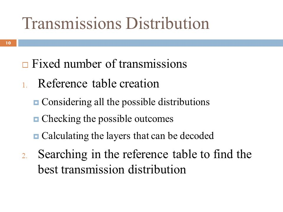 Transmissions Distribution
