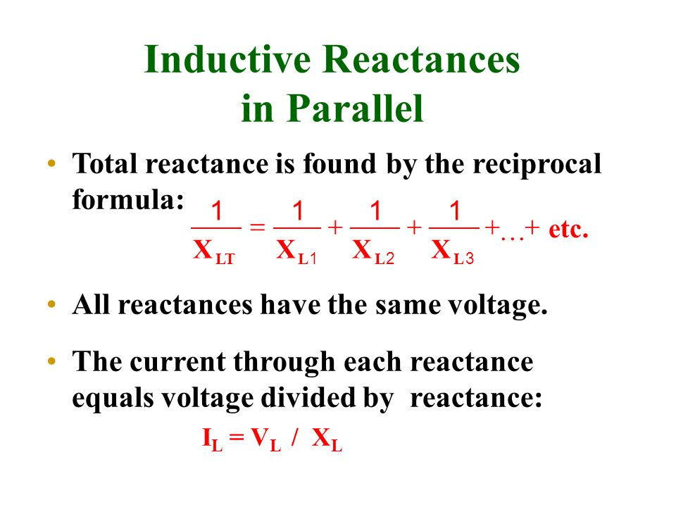 Inductive Reactances in Parallel