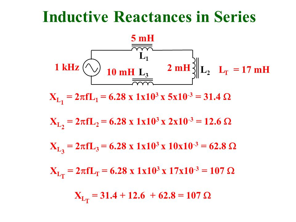Inductive Reactances in Series