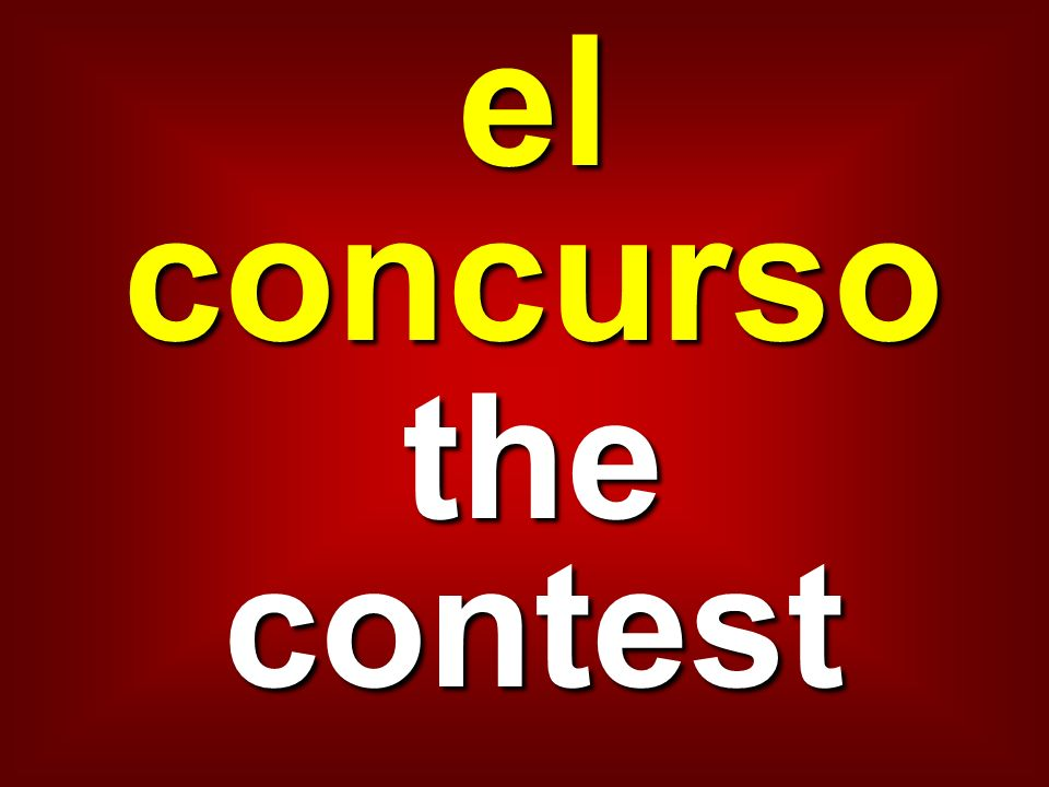 el concurso the contest