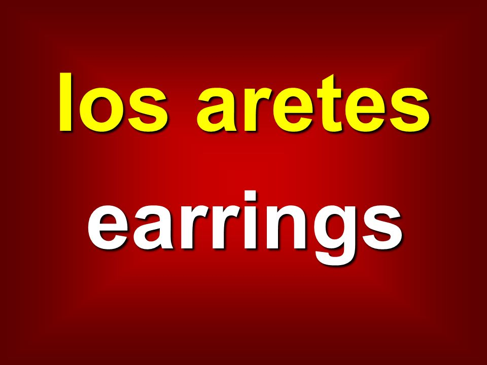 los aretes earrings