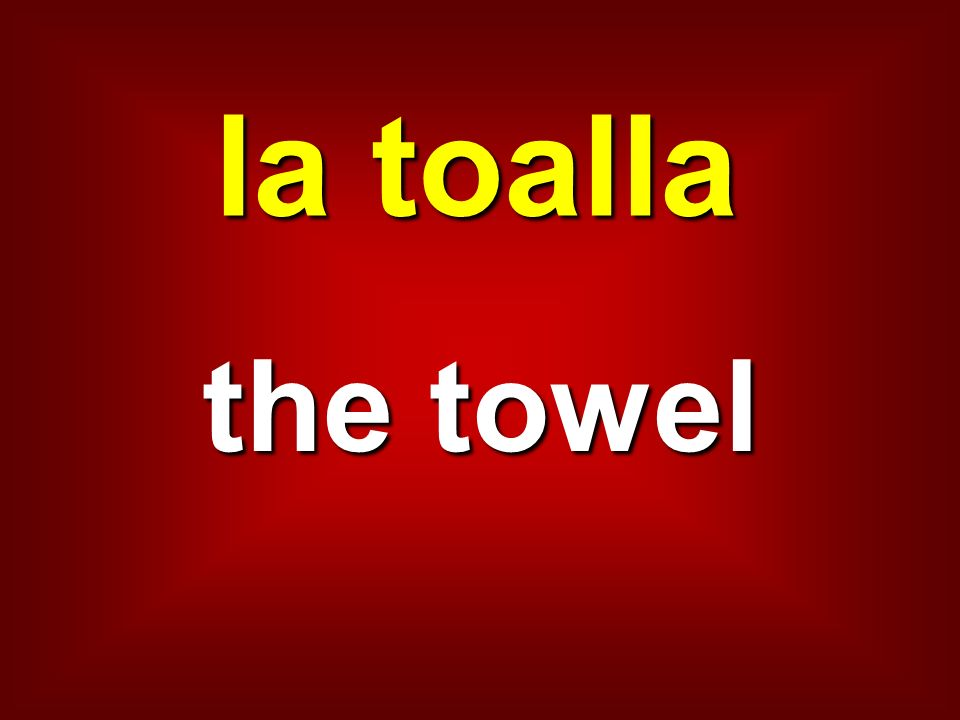 la toalla the towel
