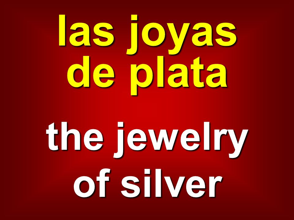 las joyas de plata the jewelry of silver