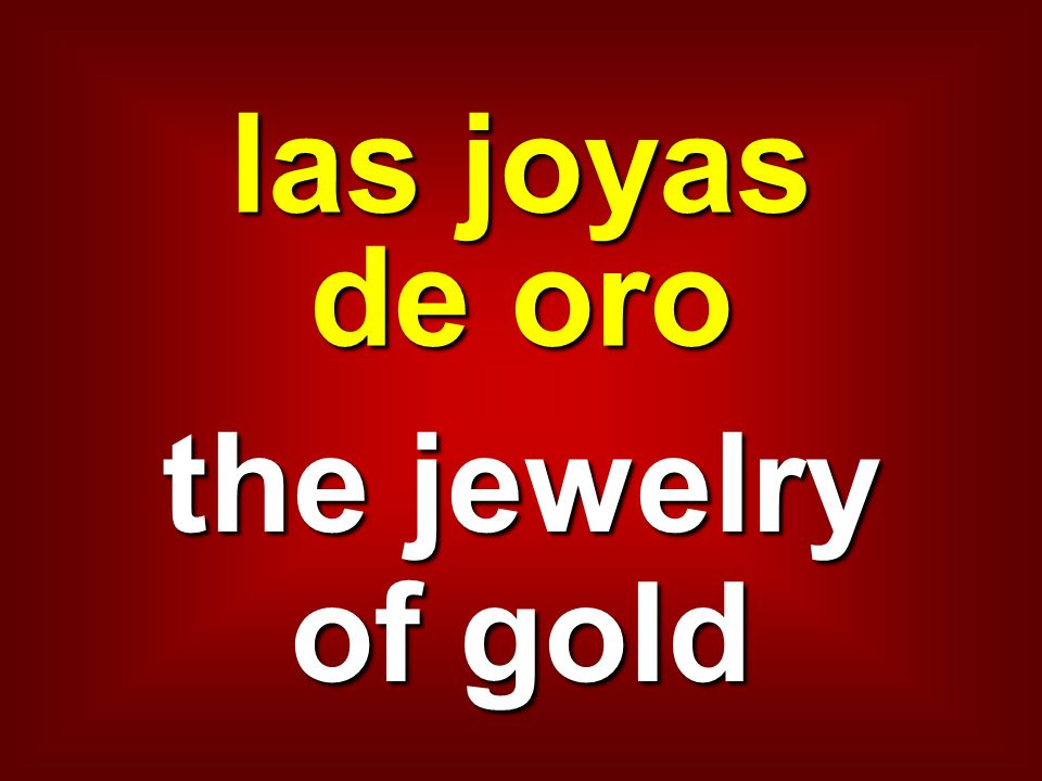 las joyas de oro the jewelry of gold