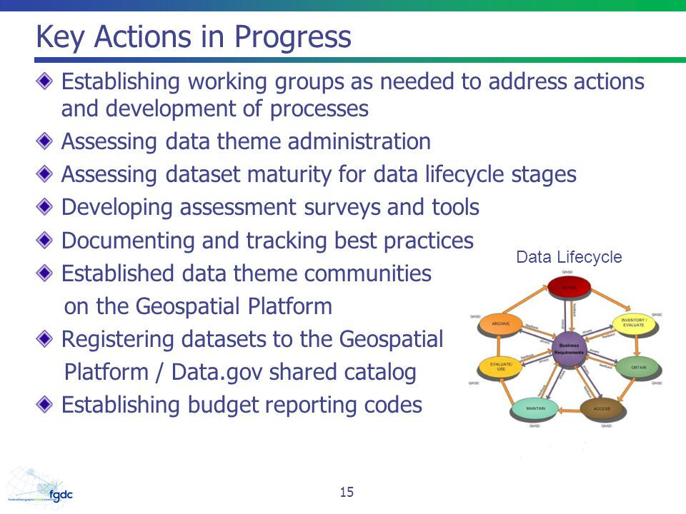 Key Actions in Progress