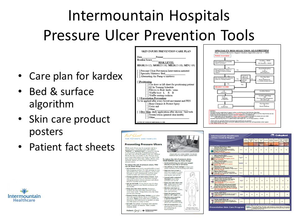 Intermountain Hospitals Pressure Ulcer Prevention Tools