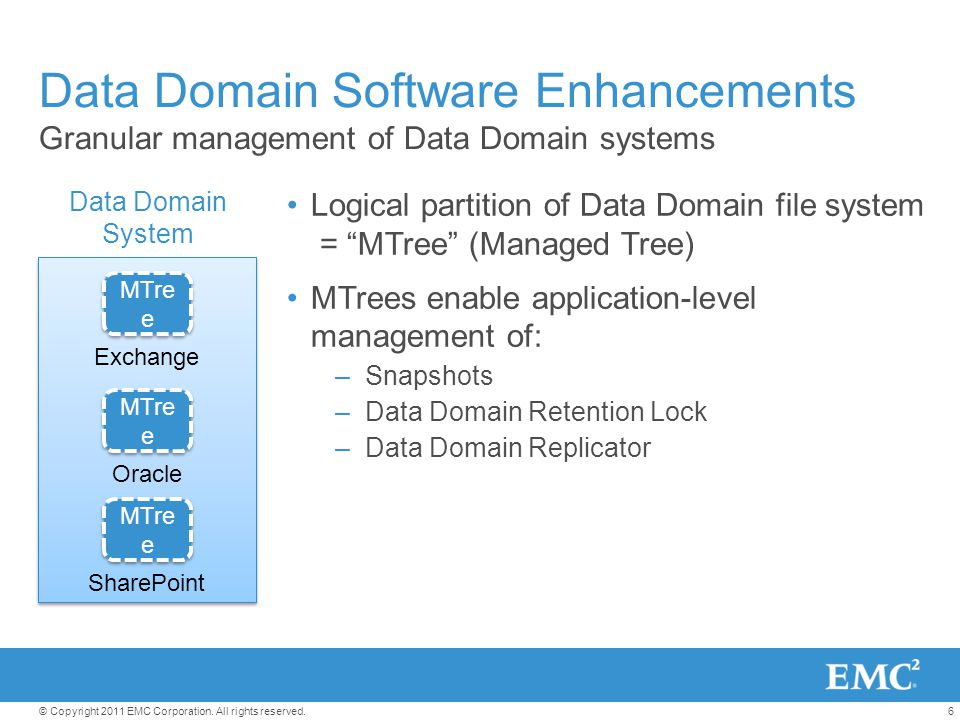 Data Domain Software Enhancements