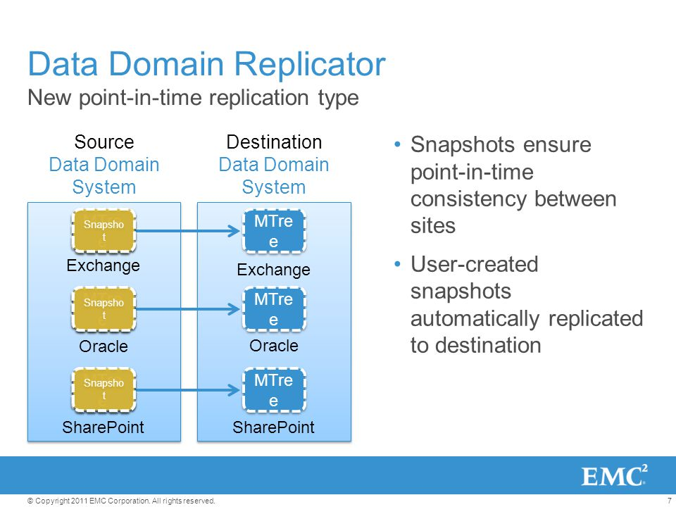 Data Domain Replicator