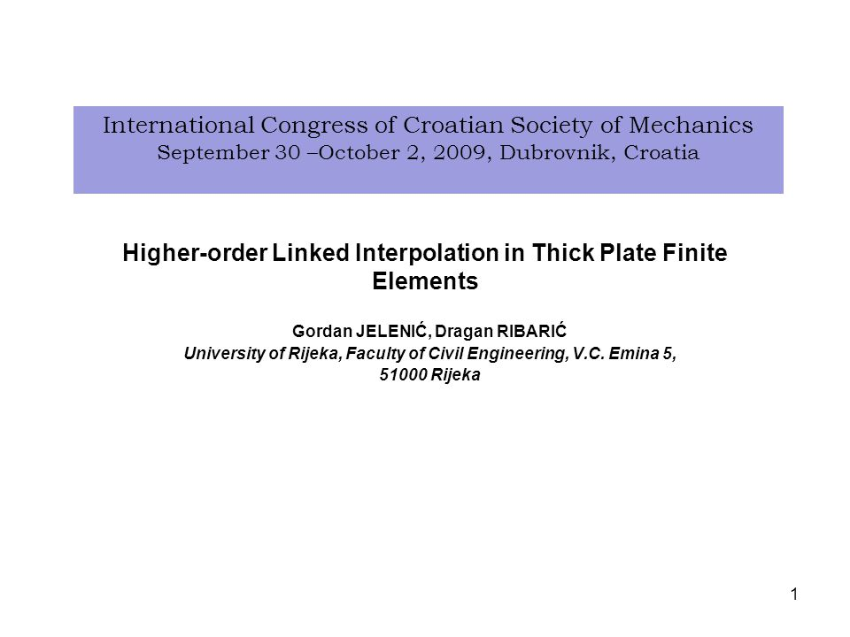 Higher-order Linked Interpolation in Thick Plate Finite Elements