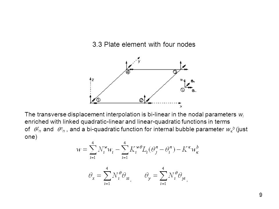 3.3 Plate element with four nodes
