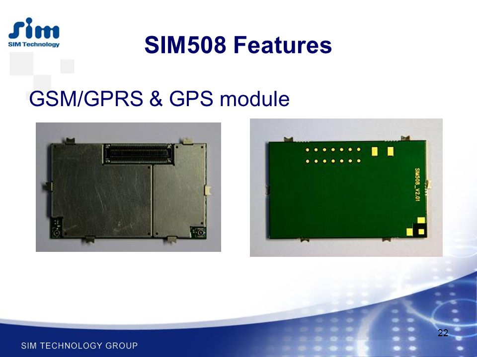 SIM508 Features GSM/GPRS & GPS module