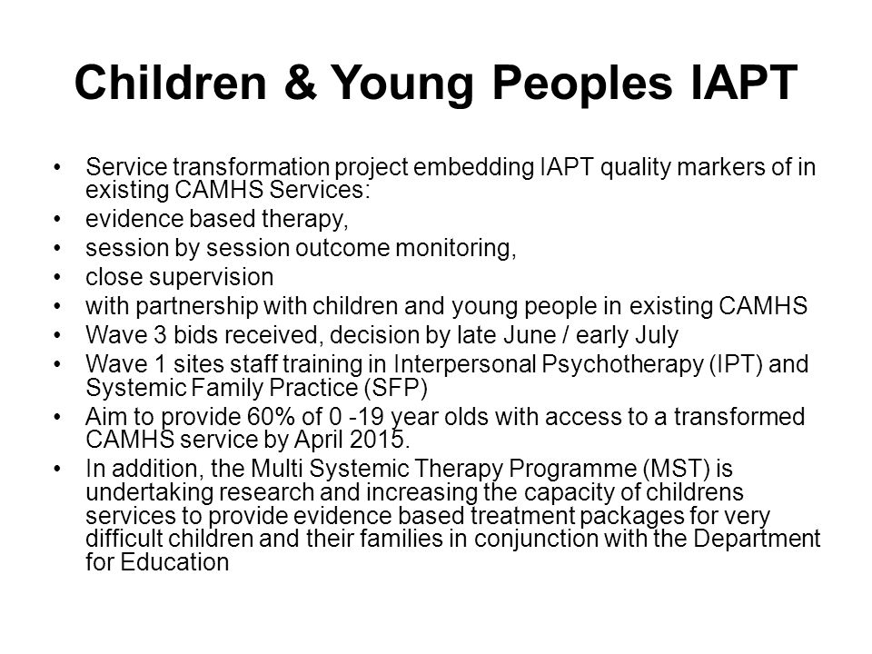 Children & Young Peoples IAPT