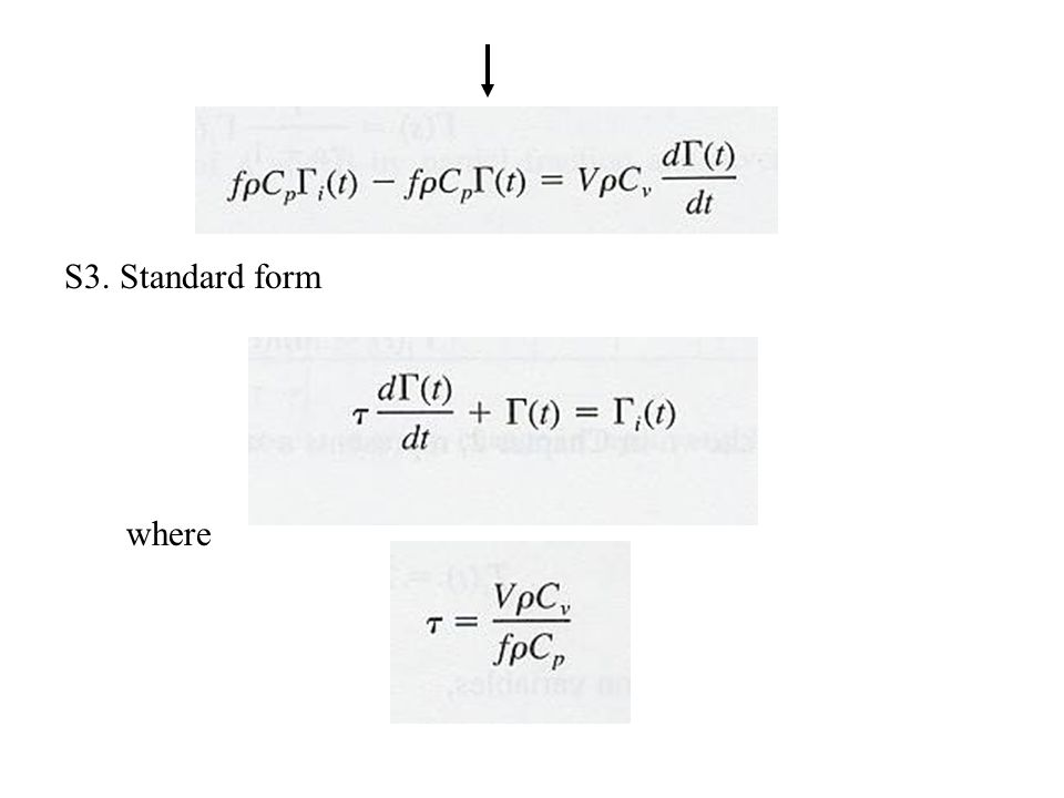 S3. Standard form where