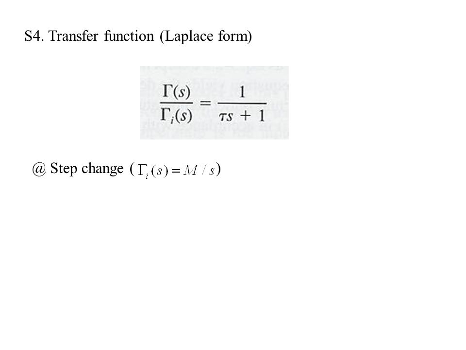 S4. Transfer function (Laplace form)