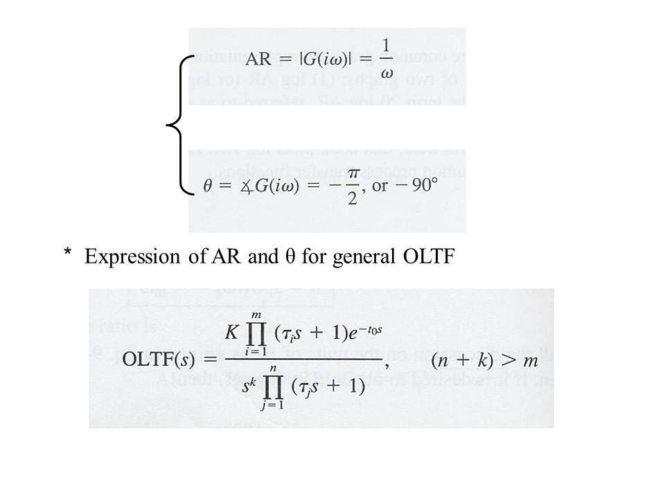 * Expression of AR and θ for general OLTF