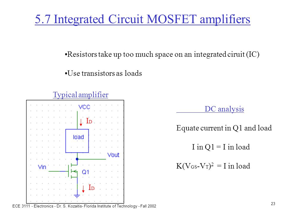 ac analysis of MOSFET amplifiers