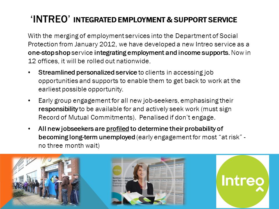 'Intreo' integrated employment & support service