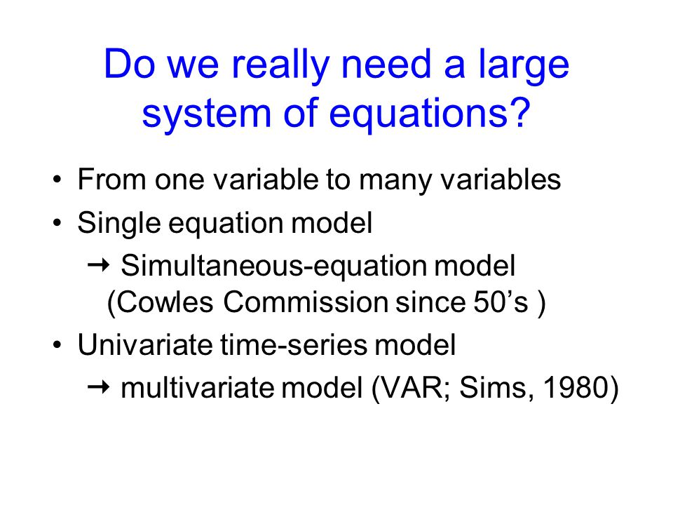 Do we really need a large system of equations