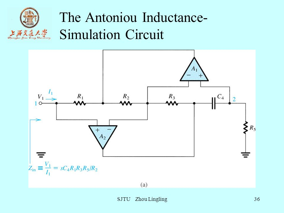The Antoniou Inductance-Simulation Circuit