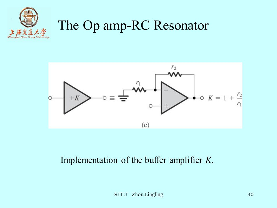 The Op amp-RC Resonator