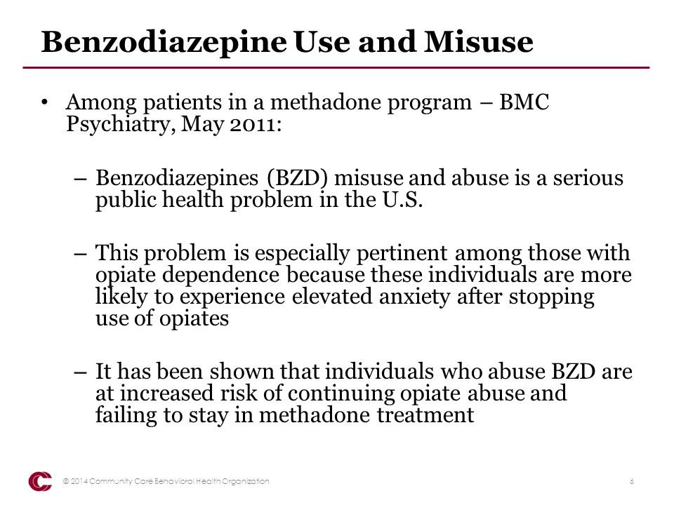 Benzodiazepine Use and Misuse