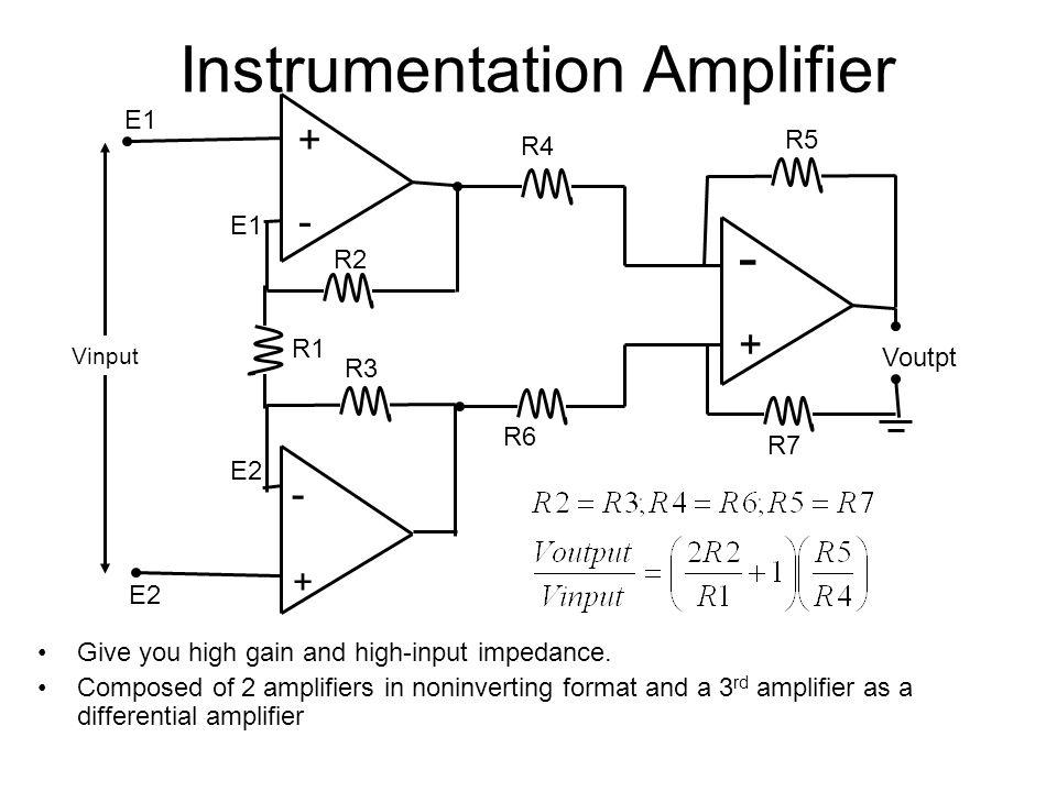biomedical instrumentation i ppt video online download rh slideplayer com Comparator Circuit Diagram Thermistor Circuit Diagram