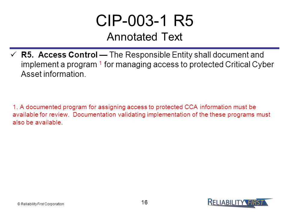 CIP R5 Annotated Text