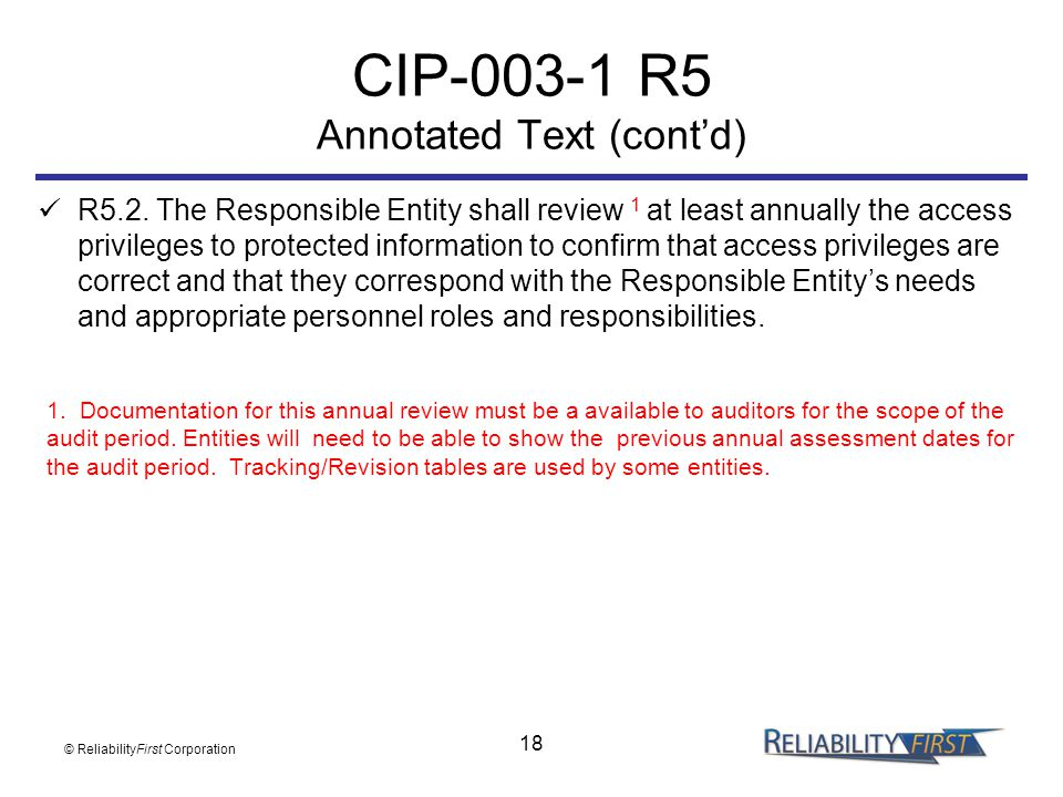 CIP R5 Annotated Text (cont'd)