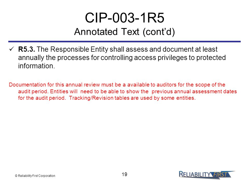 CIP-003-1R5 Annotated Text (cont'd)