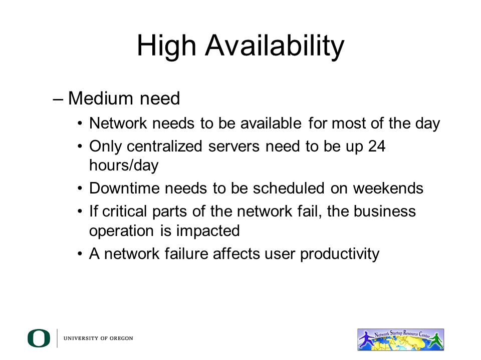 High Availability Medium need