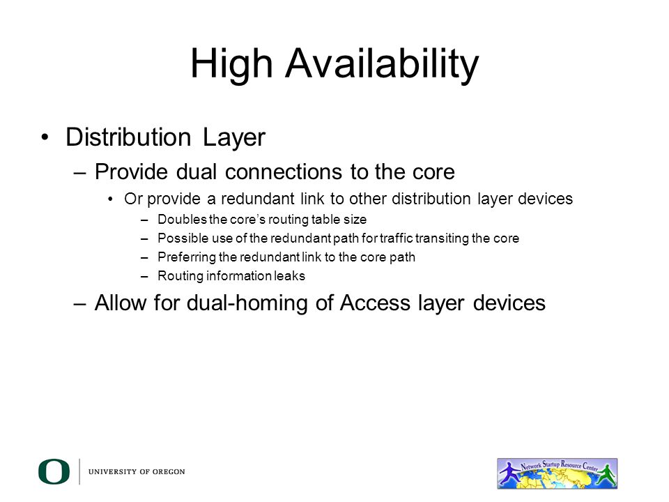 High Availability Distribution Layer