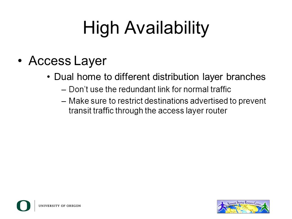 High Availability Access Layer