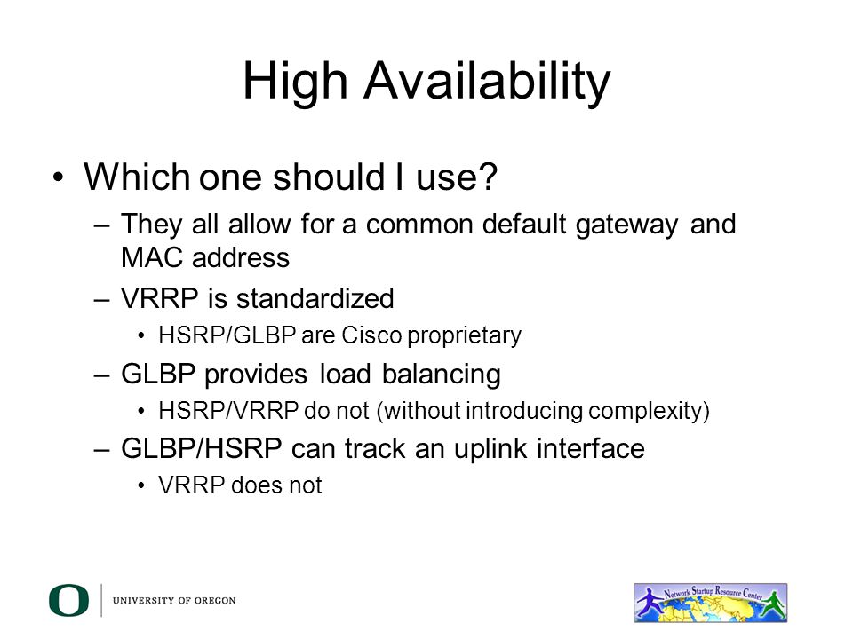 High Availability Which one should I use
