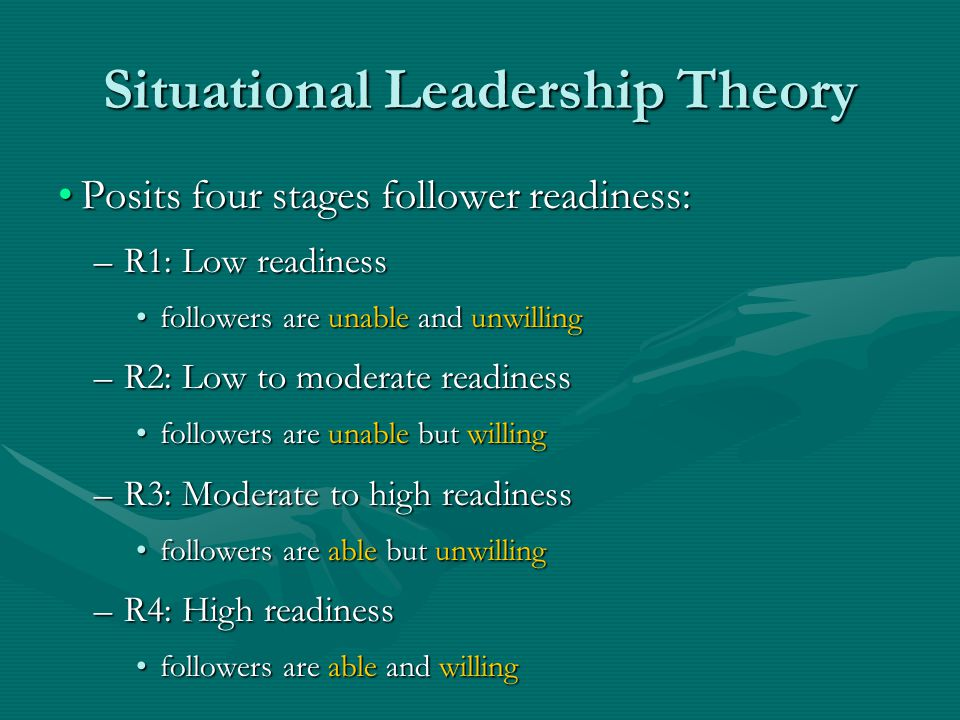 Situational Leadership Theory