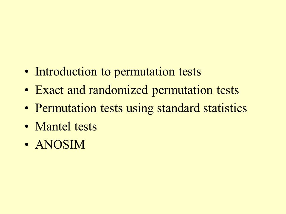 Introduction to permutation tests
