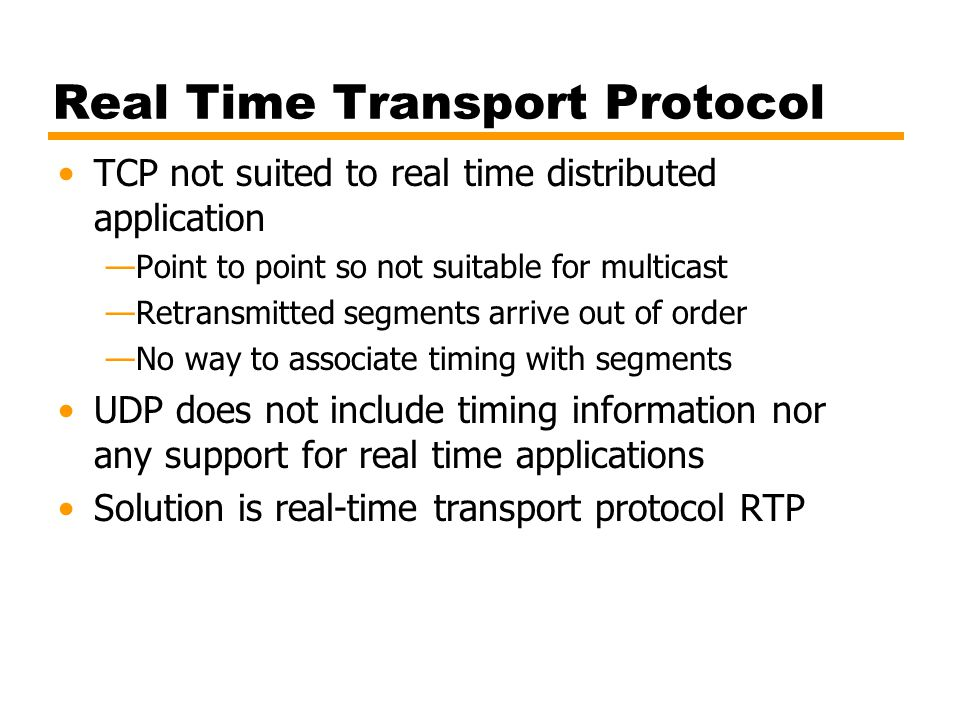 Real Time Transport Protocol