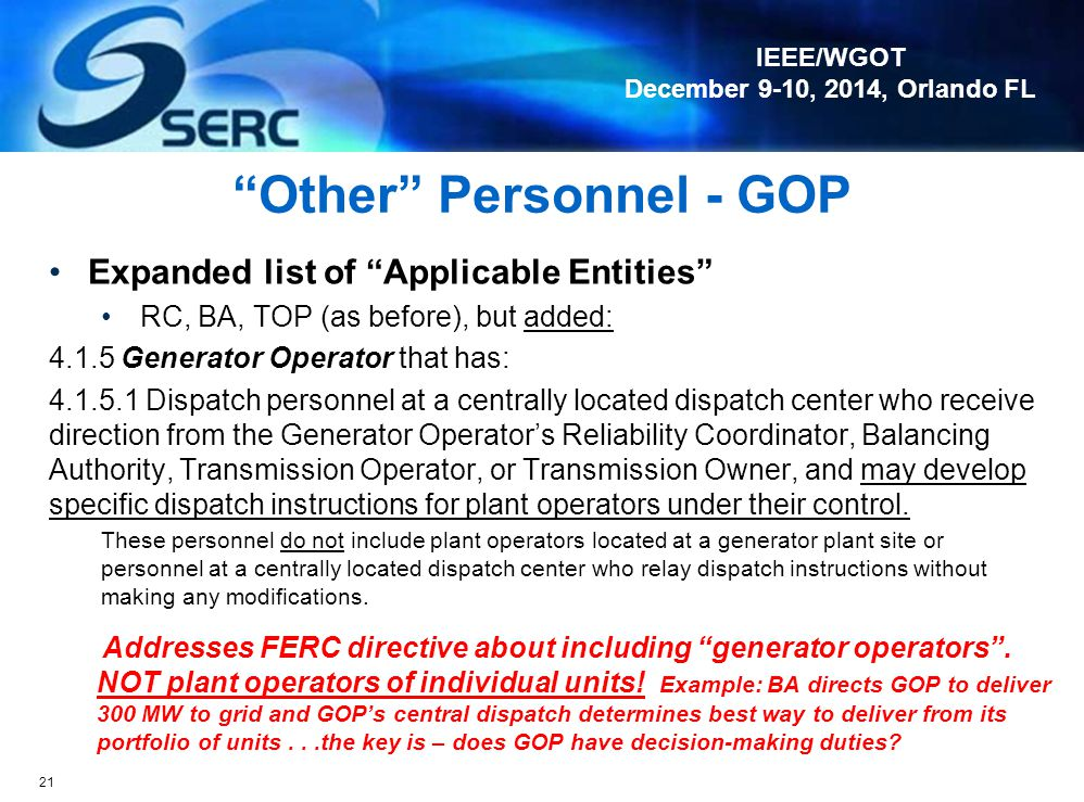 Other Personnel - GOP