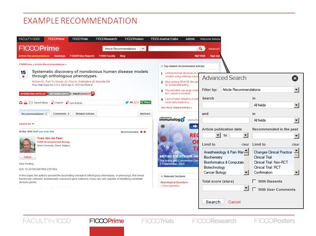 example recommendation